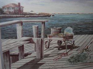 "CHRISTY EDWARDS Signed  ""Pier Deck"""