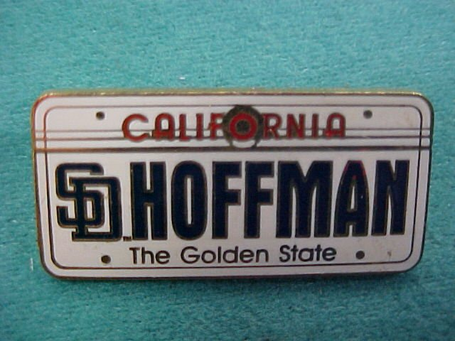 San Diego Padres Hoffman California Plate Pin