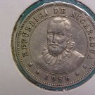 1956 Nicaragua  25 Cents Coin