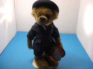"""Brass Button Bear 1900'S Baxter Bear 12"""" Plush W/Stand"""
