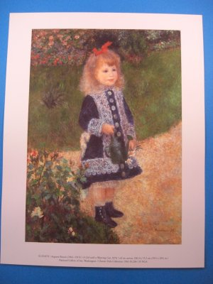 A Girl with a Watering Can by Pierre Auguste Renoir Art Print