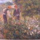 Picking Flowers by Pierre Auguste Renoir Art Print