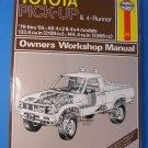 HAYNES Toyota Pick-Up & 4-Runner '79 thru '85 Owners Workshop Manual