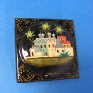 Russian Cathedral Laquered Wood Trinket Box