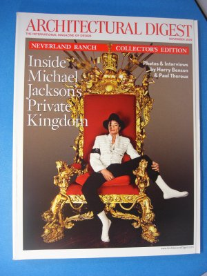 Architectural Digest Inside MICHAEL JACKSON'S Private Kingdom November 2009