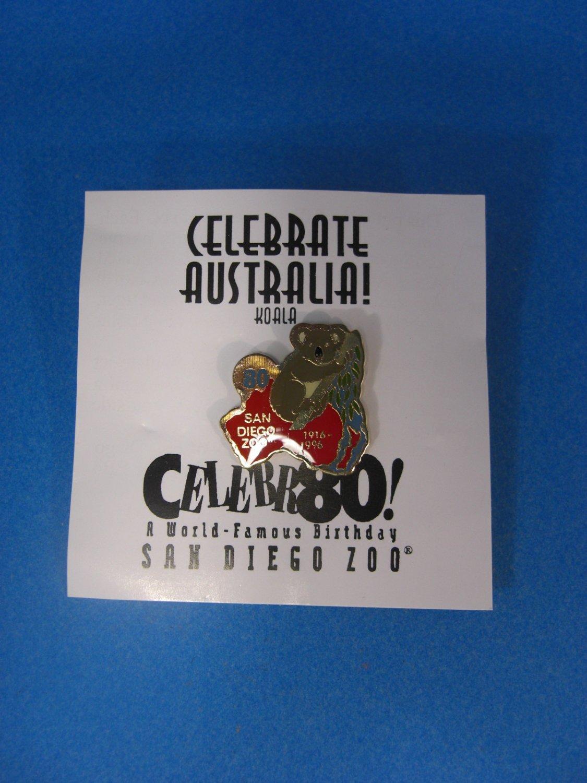 San Diego Zoo Celebrate Australia ! Lapel Pin