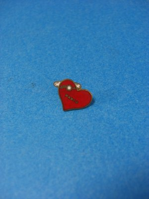 Red Heart Pabco Lapel Pin/Tie Tack