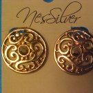 Earrings Clip Round Goldtone