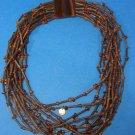 Gerda Lynggaard for Monies Horn Amber Choker  Tribal