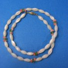 Lovely 3 Colors Coral  Choker/Necklace White Pink & Green