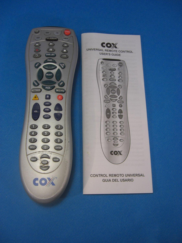 Cox 7820abp1 Sa R Digital Cable Remote Control On Demand W