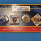 4 Albertsons Commemorative Team Pins