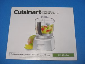 Cuisinart Elite Collection CH-4 Series Chopper/Grinder Instruction Manual