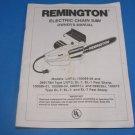 Remington Electric Chain Saw Instruction Manual