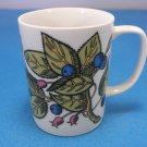 Fitz and Floyd Blue Berries and Green Leafs Mug