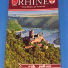 The Rhine Colourphoto Guide Vintage 1940's Pull-Out Map of the Rhine- Mainz to Koblenz - Germany