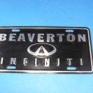 Beaverton Infiniti Black & Chrome License Plate