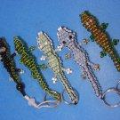 Alligator Lizard Key Rings & Dangle Five Pieces