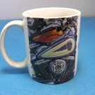 2002 Harley Davidson Fat Boy Ceramic Mug w/Raised Shield in Bottom