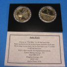 """BABE RUTH """"Shining Stars Of Baseball"""" Commemorative Proof Collection Coin Set"""