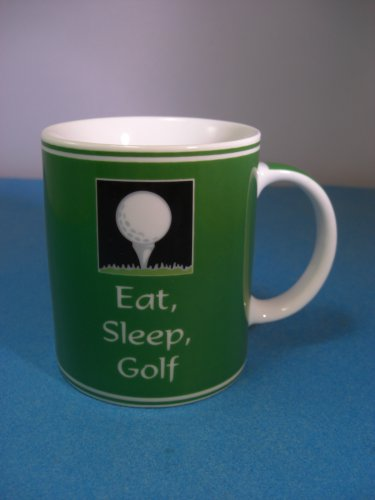 Ganz Eat Sleep Golf Mug Golf Ball Tee Green Club Driver