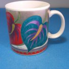 Laurel Burch Anthurium Lily Flower Ceramic Mug
