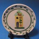 Yellow Birdhouse Small Hand Painted Souvenir Dish