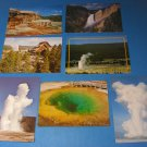 Old Faithful Geyser/Grand Canyon/Morning Glory Pool/Minerva Terrace Yellowstone Postcards