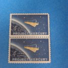 Project Mercury Man in Space 4 Cent US Stamp Block Of 2