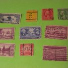 1903-1931 Franklin Lindbergh Grant 10 US Stamps Lot