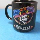 Morelia Black Mug Catrinas Mexican Elegant Skull