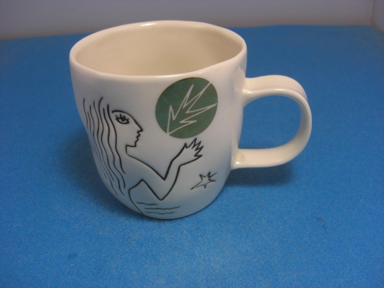 Starbucks 2013 Anniversary Mug Etched Siren White 12 Fl Oz