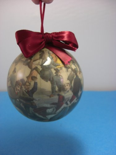 Currier & Ives Paper Decoupage Ornament by Enesco 3""