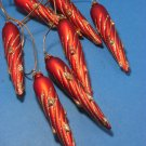 Christmas Red Icicles Ornament
