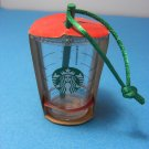 Starbucks Clear Cold Cup w/ Straw Christmas Tree Ornament