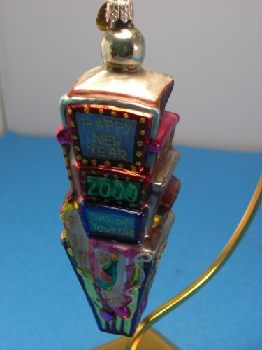 Christopher Radko 2000 New Year Times Square Glass Christmas Ornament