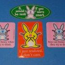 Lot of 4 Collectible Jim Benton Happy Bunny Stickers