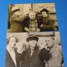 The Three Stooges Vintage Two Fotocard Postcards