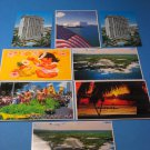 Hawaii Lot Of 8 Postcards Pearl Harbor 1985