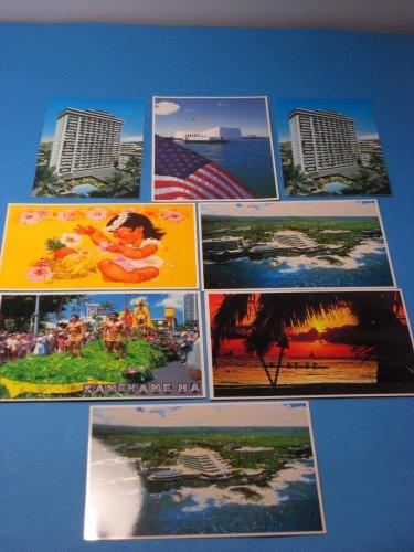 Hawaii Lot Of 8 Postcards Pearl Harbor 1985