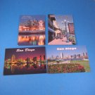 San Diego California 4 Postcards Seaport Village Gaslamp