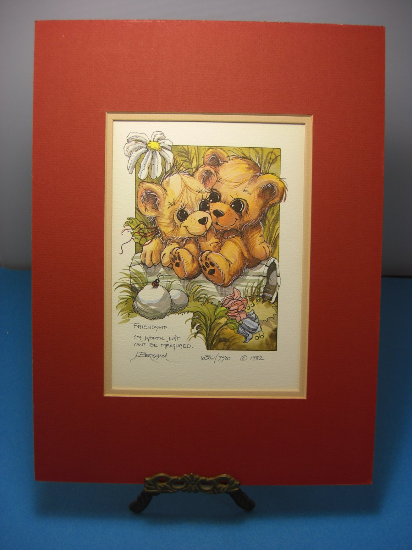 Jody Bergsma Ltd. ED 1982 Friendship . . . DreamKeeper Print Signed