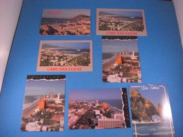 Los Cabos & Mazatlan Mexico Postacard Lot 7 Unused Cards