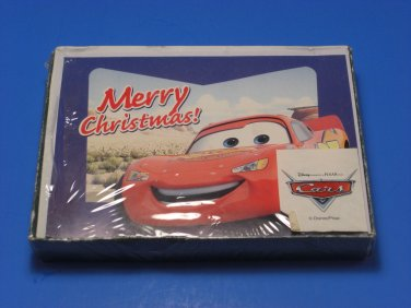 Disney Pixar Cars Lightning McQueen Christmas Cards Boxed 10 Paper Magic Group