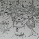 Signed & Titled Jeff Gold Art Print 1978 Drum Enchanted Evening