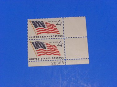 Vintage Unused US Postage 4 Cent US Flag July 4, 1959