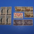 Ten Used US Stamps Patton, VFW, Winslow Homer & Appomattox