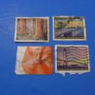 U S Stamps Used Redwood Forest, 5 Dlls Waves, Verrazano Narrow & Sunshine Skyway Bridges