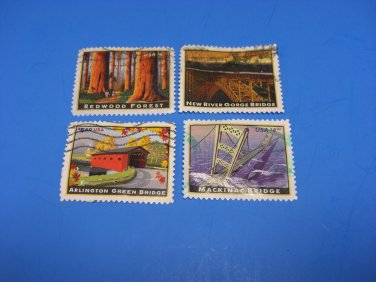 U S Stamps Used American Landmark Arlington Green Bridge (Off Paper)