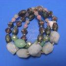 Women Multi-Color Three Tier Beads Bracelet